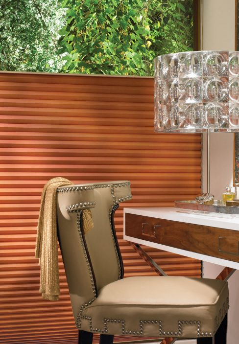 Orange Accordion Blinds | Amy's Blinds on Marco Island, Florida